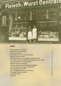 Inhaltsverzeichniss vom Buch über Kastanienallee und Familie Hauptmann